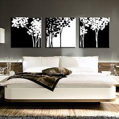 Stretched Canvas Art Botanical Braches Set of 3 – NOK kr. 529