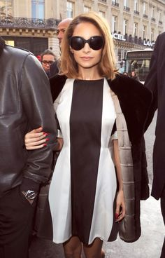 Nicole Richie monochrome in Paris....tres chic madam