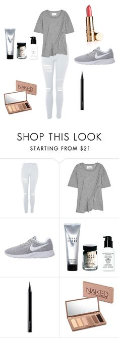 """Cute outfit"" by beliver5 ❤ liked on Polyvore featuring Topshop, Maison Margiela, NIKE, Bobbi Brown Cosmetics, MAC Cosmetics and Urban Decay"