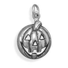 Halloween Jack  O  Lantern Charm Holiday Pumpkin by jewelrymandave