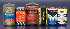Vintage BATTERIES from Regency, Philco, Hoffman, Eveready, Ray-O-Vac. Many more here:  www.ericwrobbel.com/collections