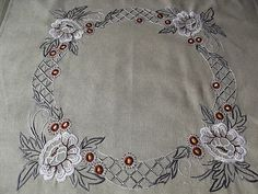 Swedish Vintage Natural Linen Tablecloth with by Deccorista