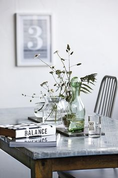 Dining table with a marble top, photo House Doctor