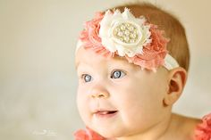 Hey, I found this really awesome Etsy listing at http://www.etsy.com/listing/121364219/baby-headband-coral-ivory-vintage
