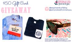 Click the photo above to enter to win $50 in FREE MONOGRAMS from Personalized From Me To You