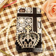 Luxurious Diamond Rhinestone Crown Pattern Protective Hard Cases for iPhone 4  5 on DressLuck.com