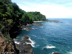 cliff view at playa huevo - beaches in guanacaste
