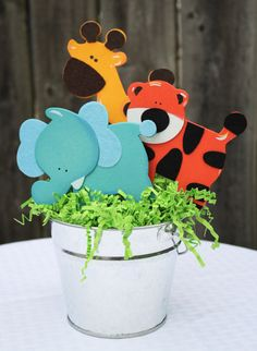 Safari Animal Centerpiece Jungle Animal Centerpiece Baby