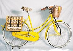 Sunny yellow! Orla Kiely bicycle - a prototype for charity .