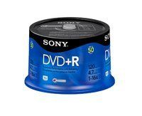Sony DVD Recordable Media - DVD+R - 16x - 4.70 GB - 50 Pack Spindle - Bulk by Sony. $42.17. Sony DVD Recordable Media - DVD+R - 16x - 4.70 GB - 50 Pack Spindle - Bulk 50DPR47SB DVD Media