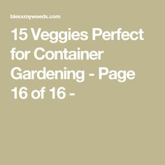 15 Veggies Perfect for Container Gardening - Page 16 of 16 -