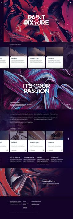 Pixture – Free photoshop PSD website template