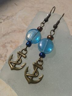 Available in my Etsy shop at https://www.etsy.com/listing/204088963/bronze-anchor-fashion-earrings-with