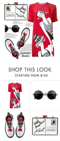 """Untitled #2"" by shamsiya1 ❤ liked on Polyvore featuring Holly Fulton, Dr. Martens and Karl Lagerfeld"