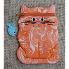 In The Hoop :: Bags, Cases & Wallets :: Cat Zipper Case - Embroidery Garden In the Hoop Machine Embroidery Designs