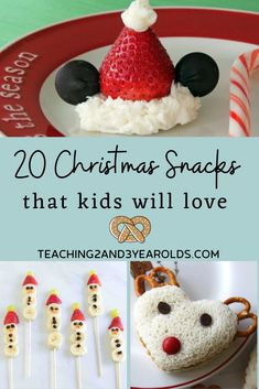 Looking for some easy Christmas snacks for kids? Here are 20 tasty ideas that are perfect for class parties, home parties, and lunchboxes! #Christmas #holidays #snacks #treats #cooking #party #winter #toddler #preschool #kids #teaching2and3yearolds Christmas Party Snacks, Easy Christmas Treats, Merry Christmas, Christmas Snacks, Toddler Christmas, Christmas Cooking, Holiday Treats, Simple Christmas, Christmas Holidays