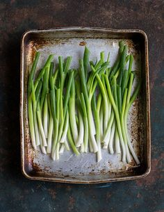 spring onions for char roasted spring onion tartines with viking salt