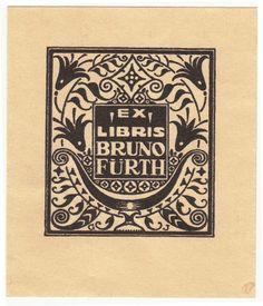 Georg Jilovsky (1884-1958): Ex Libris Bruno Fürth (1918)