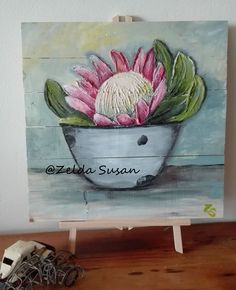 Supreme Portrait Drawing with Charcoal Ideas. Prodigious Portrait Drawing with Charcoal Ideas. Diy Canvas Art, Acrylic Painting Canvas, Boat Painting, Protea Art, Protea Flower, African Artwork, King Art, Bible Art, Abstract Flowers