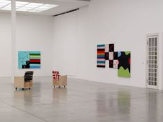 mary heilmann paintings   Mary Heilmann, All Tomorrow's Parties, Exhibition View, Secession 2003