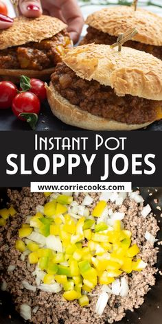 For this Instant Pot Sloppy Joes recipe you can go with beef, pork, or even a mixture of these two. Make the The BEST Homemade Sloppy Joe and get Juicy sandwiches for Christmas, Thanksgiving or any party! Easy Instant Pot recipe of Sloppy Joe  you can make using Ninja Foodi or other pressure cooker.