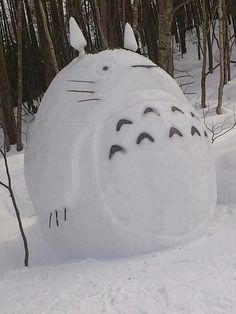 Snow-Totoro. Better than the one I made.