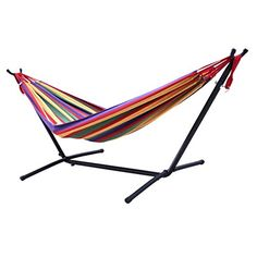 aursen cotton double hammock with space saving heavy duty    https    looped hunter green hammock stand gardener u0027s choice http   www      rh   pinterest