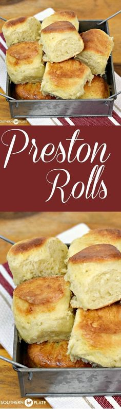 Preston Rolls - Make this dough on the weekends and keep it in the fridge for hot, yeasty rolls anytime during the busy week! #recipes #easy #maindish #yeastrolls #dinnerrolls