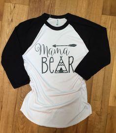 Mama Bear Shirt Papa Bear Baby Bear Auntie Bear Tshirt