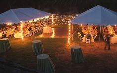 Backyard wedding decorations | Backyard wedding tents | Handfasting/Wedding ideas
