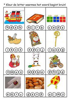 * Kleur de letter waarmee... Dutch Language, Holidays And Events, Diy For Kids, Ladybug, Lego, December, Seasons, Teaching, School