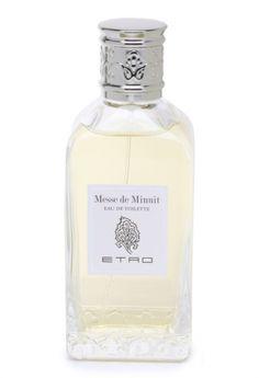 Messe de Minuit Etro. Top notes are bergamot, lemon and orange; middle notes are myrhh, cinnamon, petitgrain, citron and patchouli; base notes are musk, myrhh, labdanum and incense.