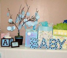 Blue & Chocolate Brown Baby Shower Party Ideas | Photo 1 of 12 | Catch My Party