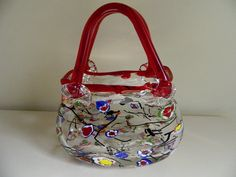 Vintage Millefiori Glass Purse