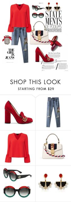 """""""A street style statement. The classy women issue presents this equally comfortable and chic outfit."""" by marieantoinette-ii ❤ liked on Polyvore featuring Gucci, Victoria's Secret, Exclusive for Intermix and Lalique"""