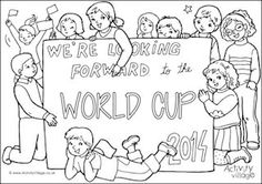 Huge collection of World Cup for kids - all sorts of printables for home and classroom, colouring pages, World Cup flags etc