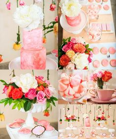 Wedding Color Palette Idea: Coral, Pink, Peach and White. To see more: http://www.modwedding.com/2014/06/06/daily-wedding-color-palette-idea/ #wedding #weddings Featured Photographer: Ducky Professional Photography