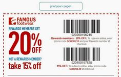 famous footwear coupons 2016