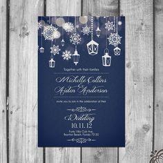 Beautiful Winter Wedding Invitation Set от ChristinaElizabethD