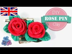 How to make a Rose Pink with Air Dry Clay Kawaii Mathie Ishare with you my rose #pins made with #airdryclay https://www.youtube.com/watch?v=MIX-x539YMs #mothersday