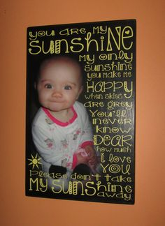 """CHRISTMAS GIFT- You Are My SUNSHINE- Personalized PHoTO Giclee MoUNTED prints- custom made to order- 11"""" x 17"""". $80.00, via Etsy."""
