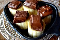 a nice sweet change from the normal 'savory' raclette options. Also works with white bread on the bottom. but watch carefully or the chocolate may burn!