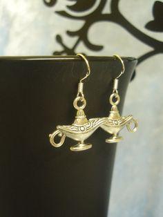 Genie Lamp Earrings  Aladdin / Wishes / Jinni / by FairyClareUK