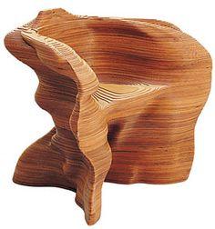 Laser cut chair by Jill Fehrenbacher.