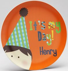 It's My Birthday Boy Personalized Plate - CHOOSE YOUR HAIR COLOR!