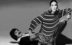 Cher-Sonny-Bono-Striped-Dress