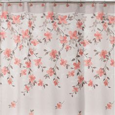 Saturday Knight Coral Garden Floral Shower Curtain #affiliate