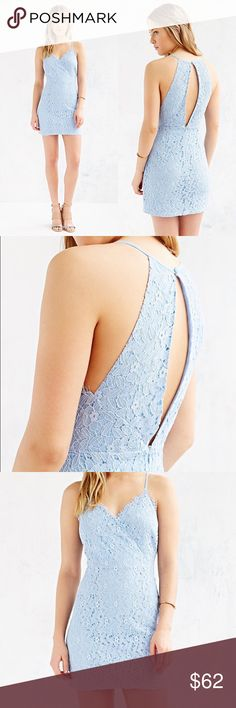 Kimchi Blue baby blue lace open back mini dress New without tags 😊💗 Urban Outfitters Dresses Mini