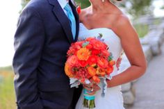light blue and coral wedding images | Brittaney and Brad 39s Beautiful Lakeside Wedding by Melina Wallisch