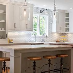 World Market Counter Stools, Transitional, kitchen, Pennville Custom Cabinetry